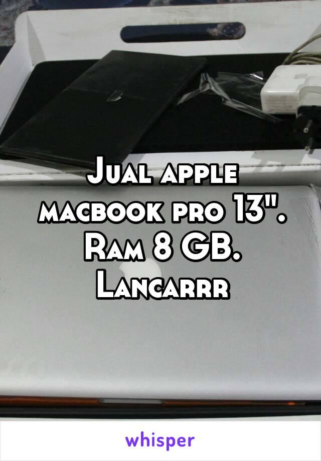 "Jual apple macbook pro 13"". Ram 8 GB. Lancarrr"