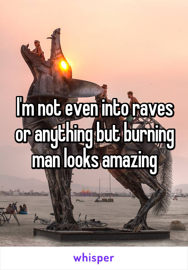I'm not even into raves or anything but burning man looks amazing