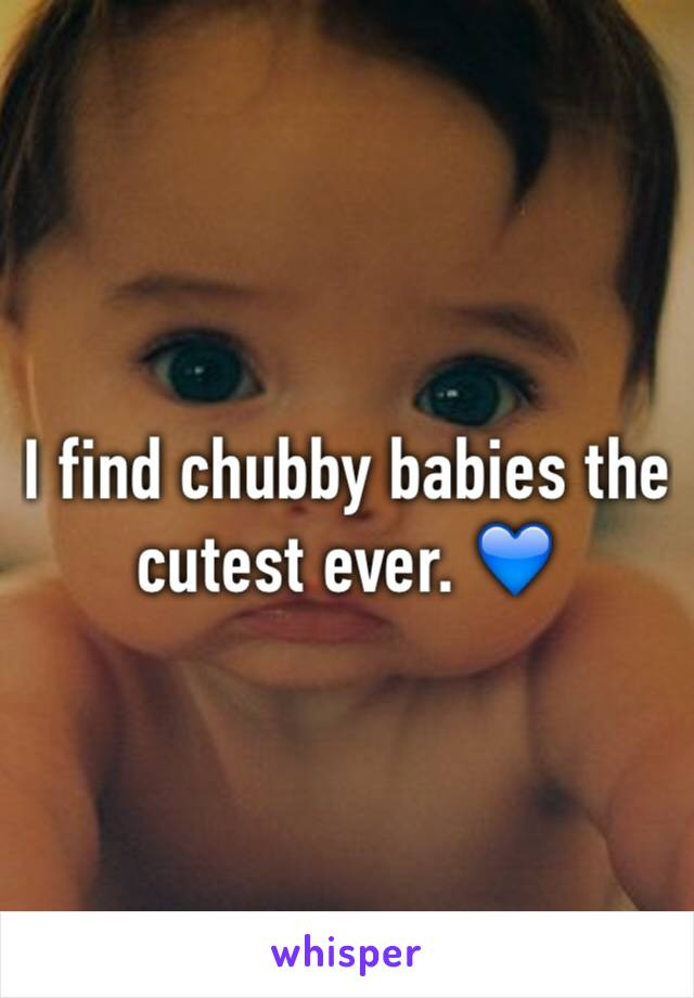 I find chubby babies the cutest ever. 💙