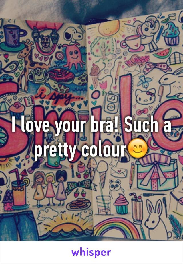 I love your bra! Such a pretty colour😊