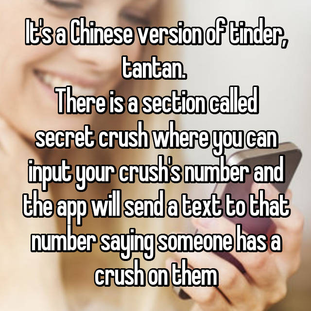 It's a Chinese version of tinder, tantan  There is a section called