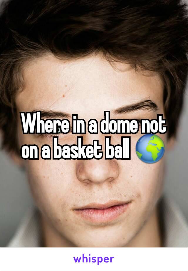 Where in a dome not on a basket ball 🌍