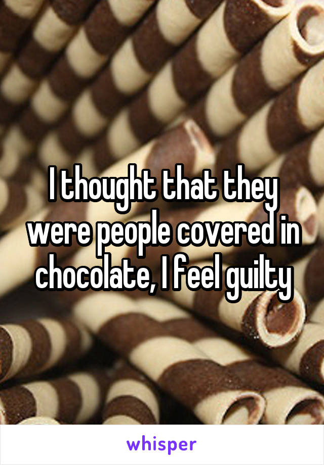 People Covered In Chocolate