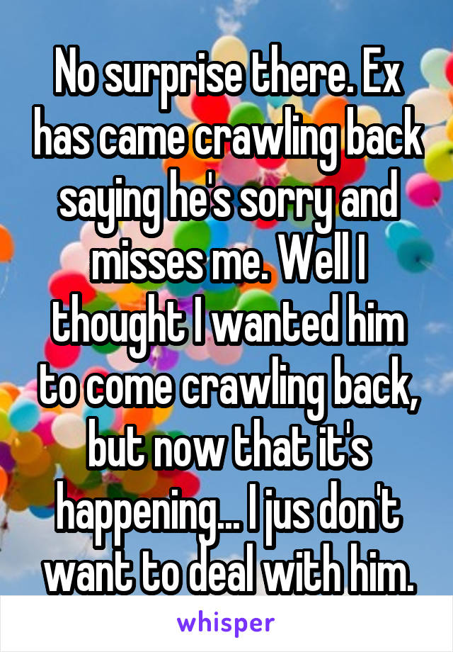 What Happened When 20 People's Exes Came Crawling Back