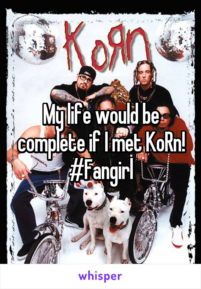 My life would be complete if I met KoRn! #Fangirl