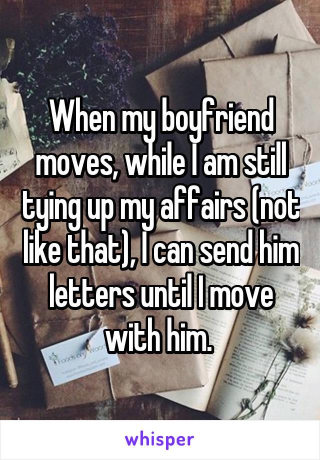 Tying up my boyfriend