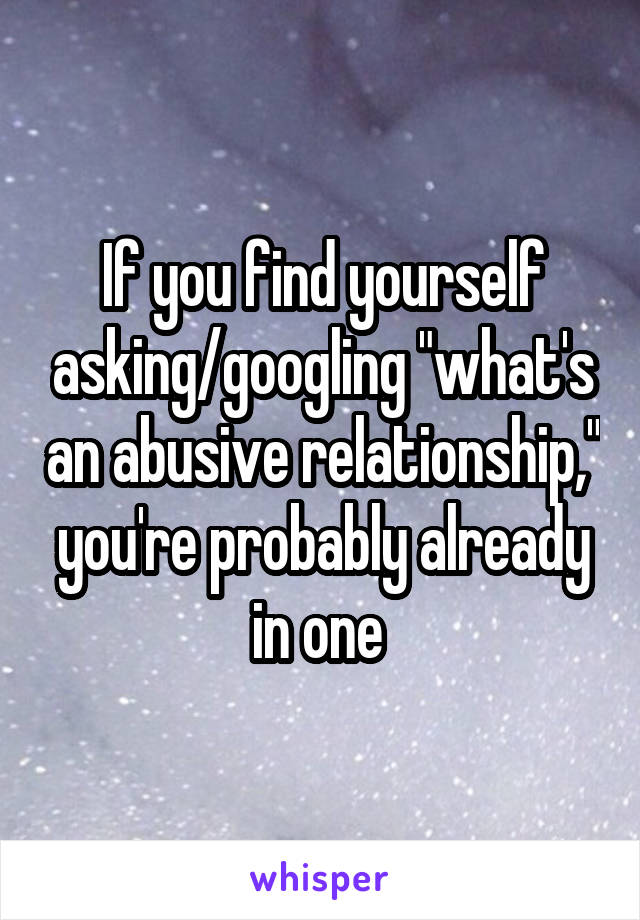 Finding your self relationships