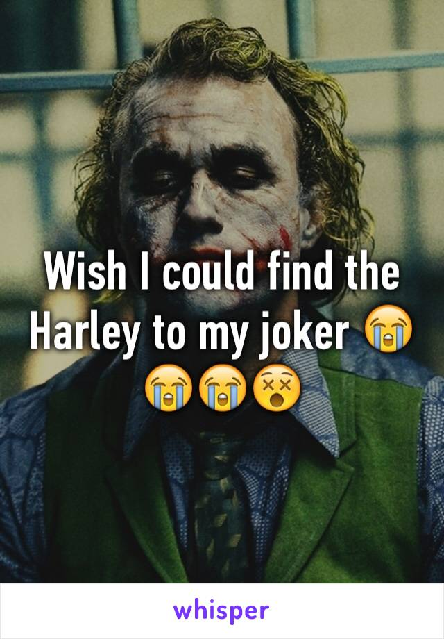 Wish I could find the Harley to my joker 😭😭😭😵