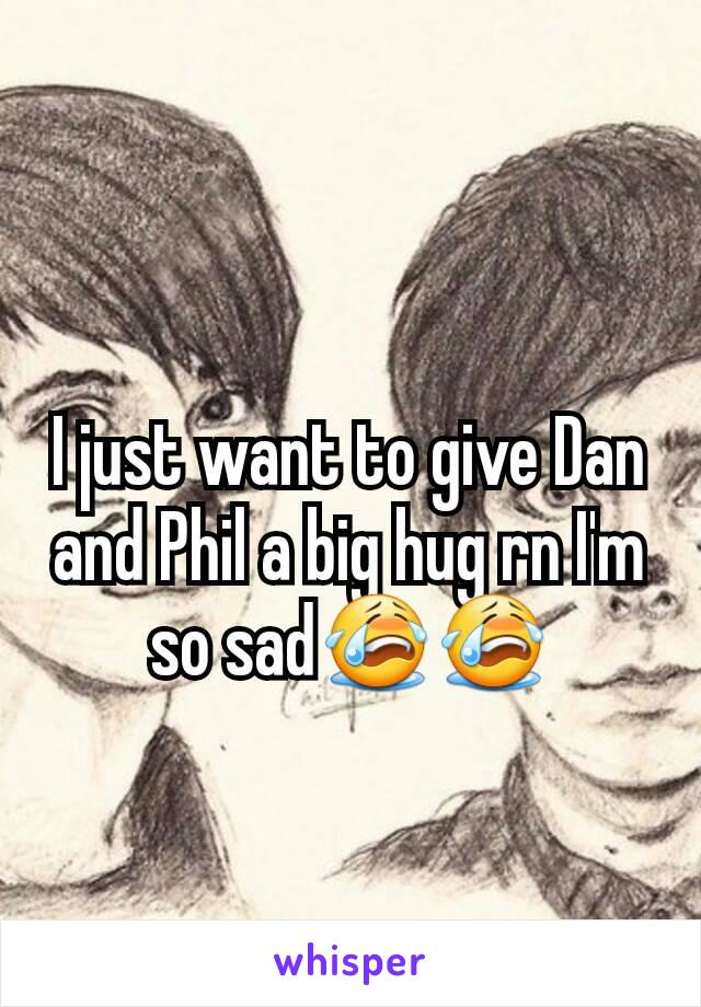I just want to give Dan and Phil a big hug rn I'm so sad😭😭