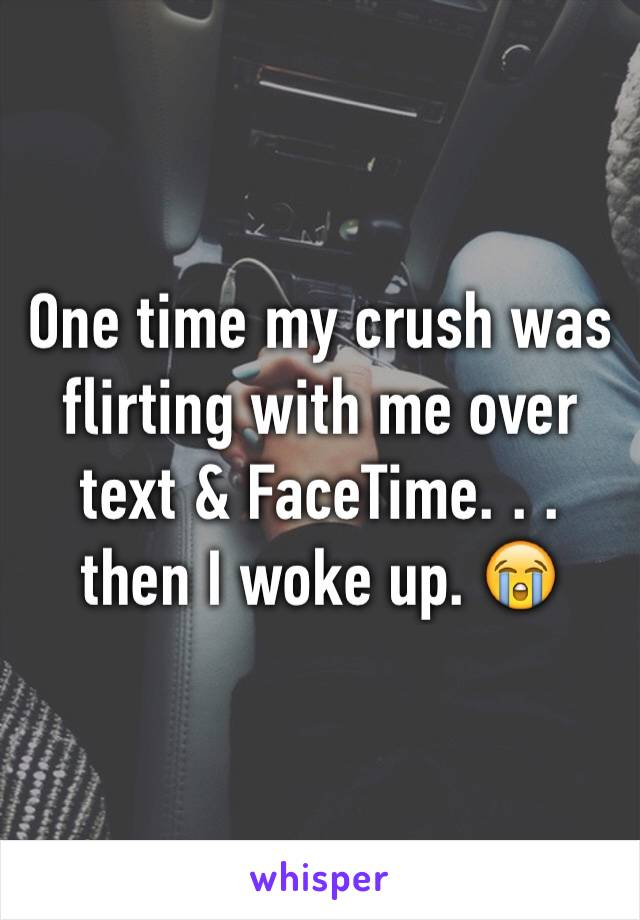 One time my crush was flirting with me over text & FaceTime. . . then I woke up. 😭