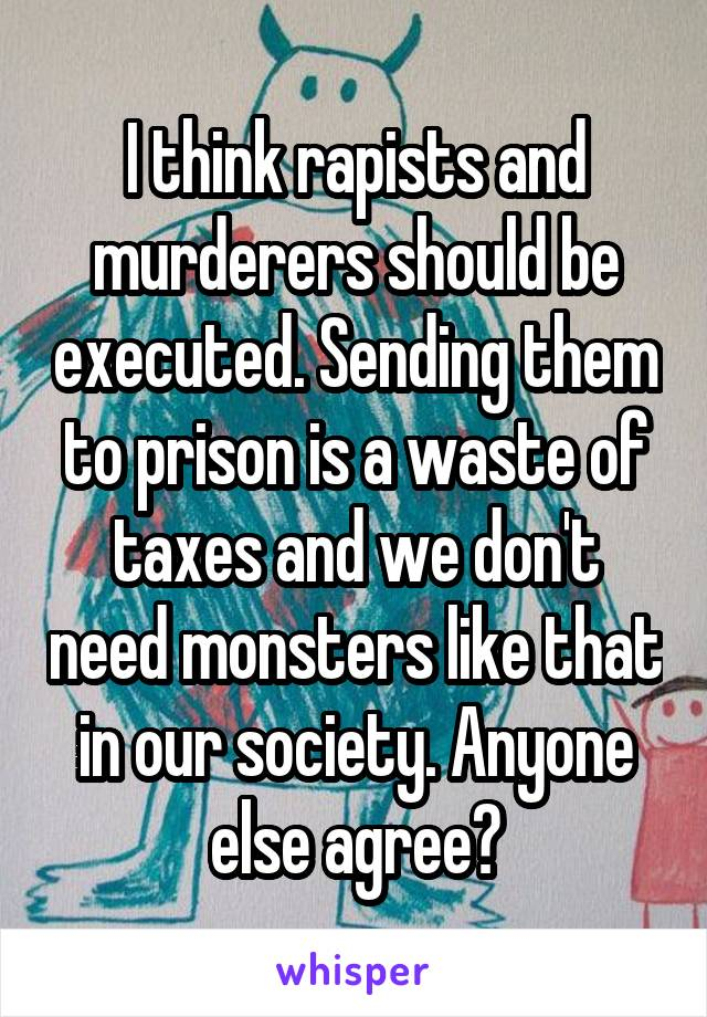 Murderers should be executed