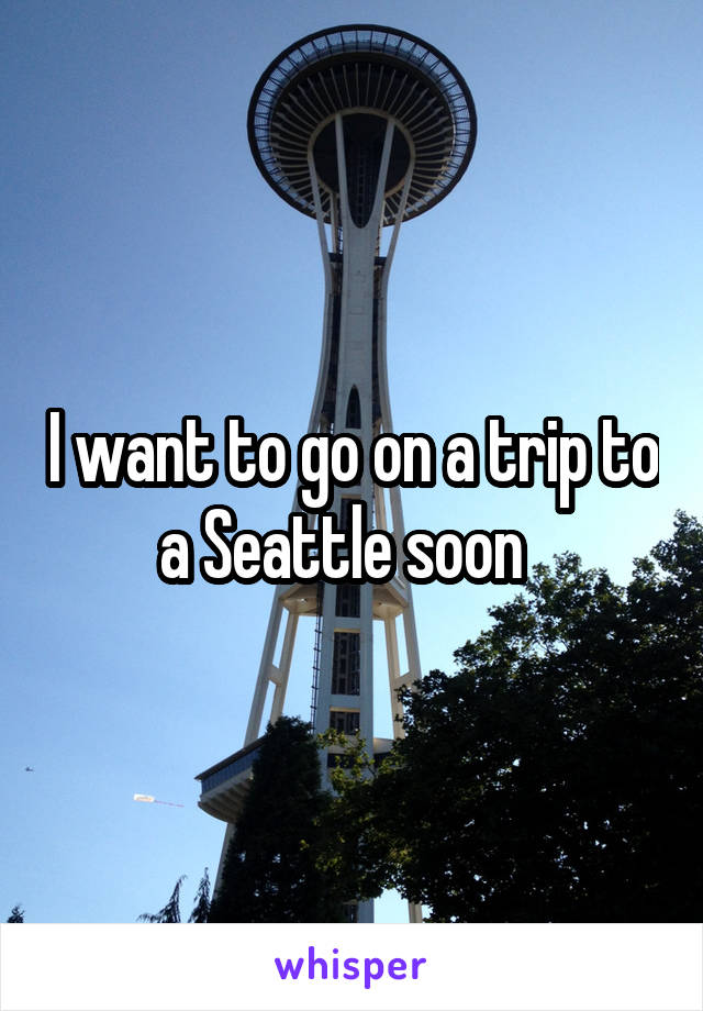 I want to go on a trip to a Seattle soon