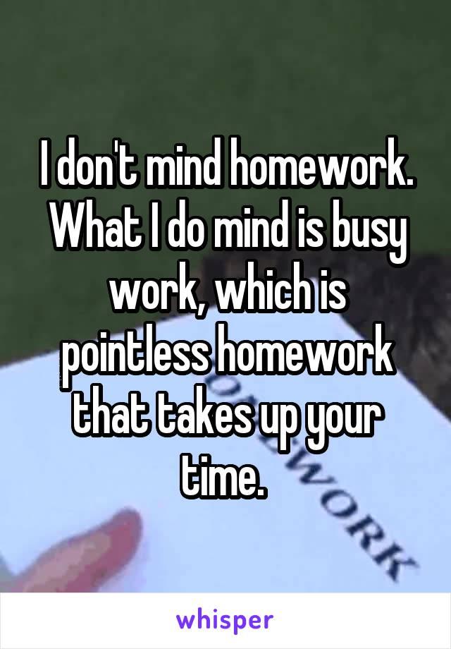 homework is pointless
