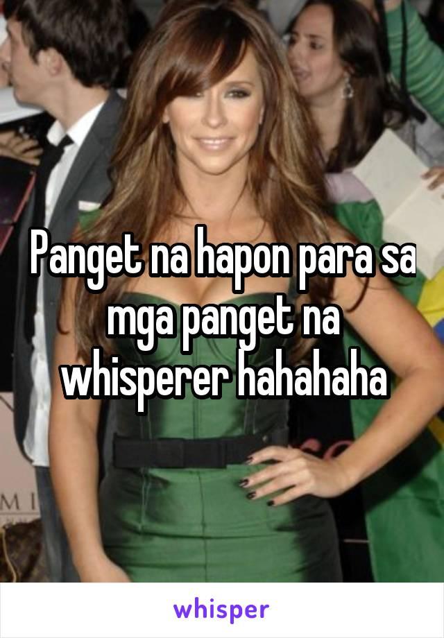 Panget na hapon para sa mga panget na whisperer hahahaha
