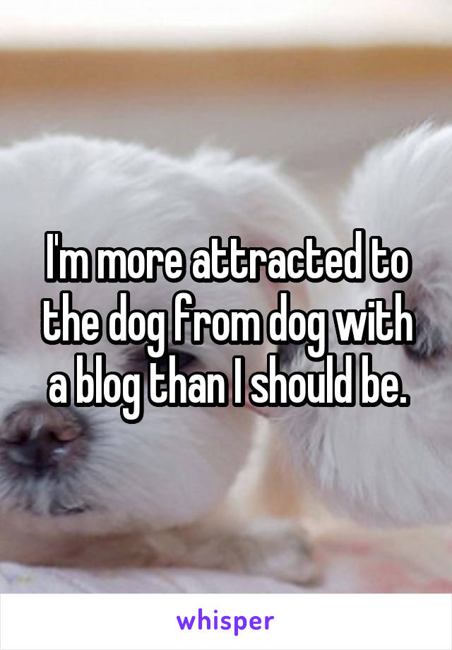 I'm more attracted to the dog from dog with a blog than I should be.