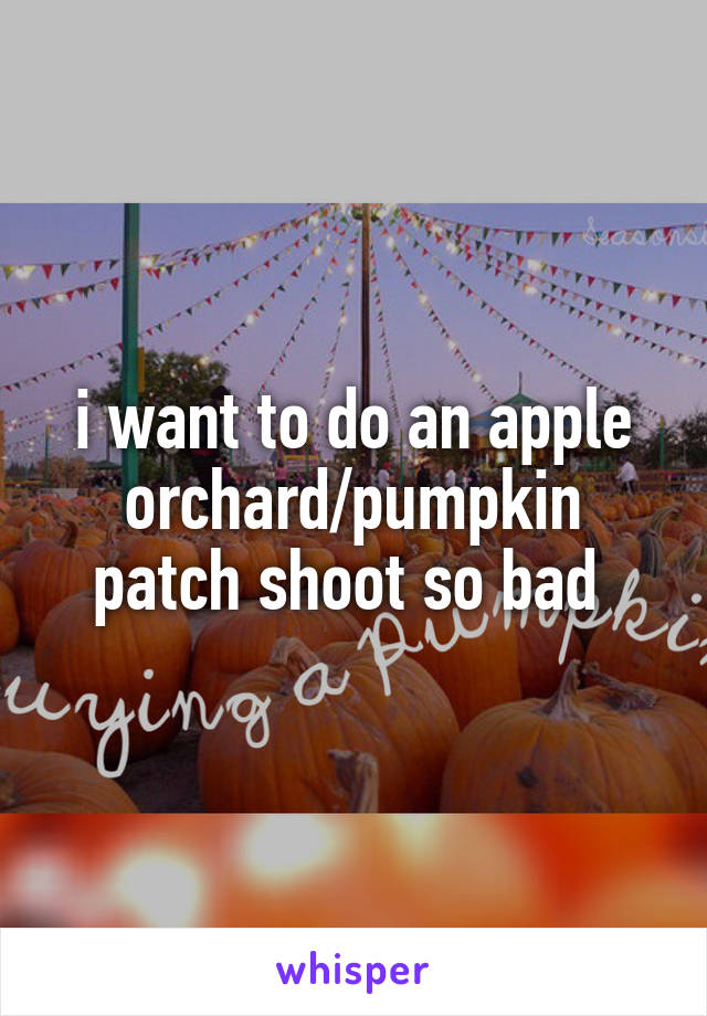 i want to do an apple orchard/pumpkin patch shoot so bad