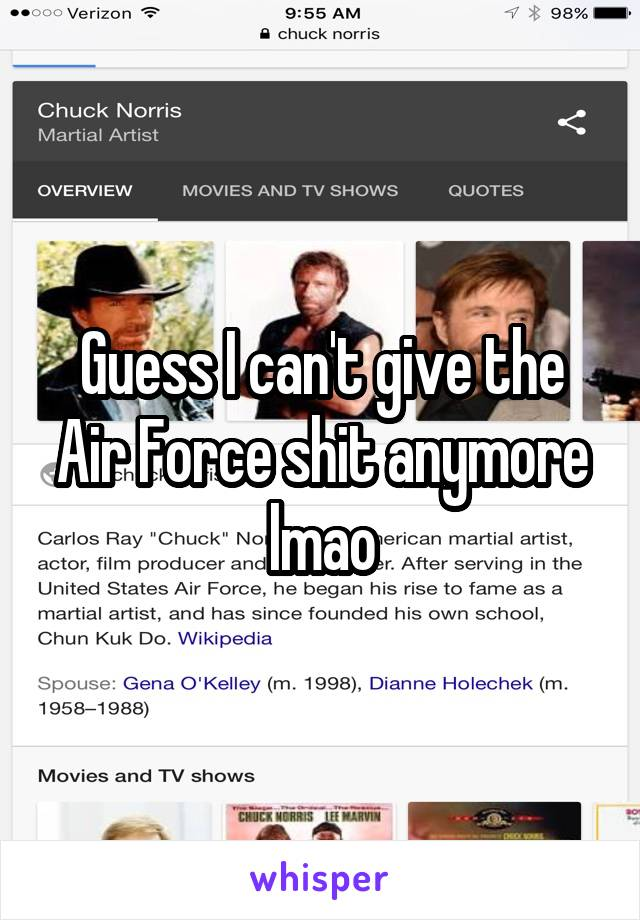 Guess I can't give the Air Force shit anymore lmao