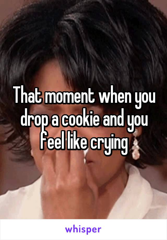 That moment when you drop a cookie and you feel like crying