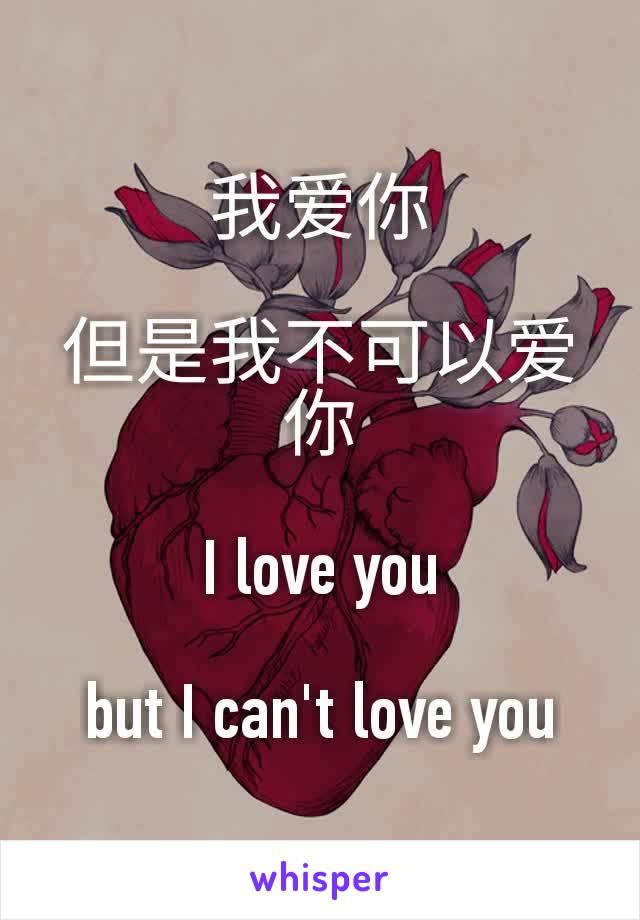 我爱你  但是我不可以爱你  I love you  but I can't love you