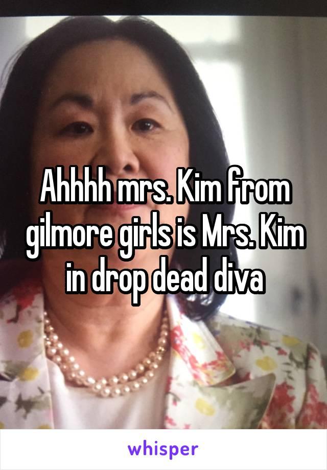 Ahhhh mrs. Kim from gilmore girls is Mrs. Kim in drop dead diva