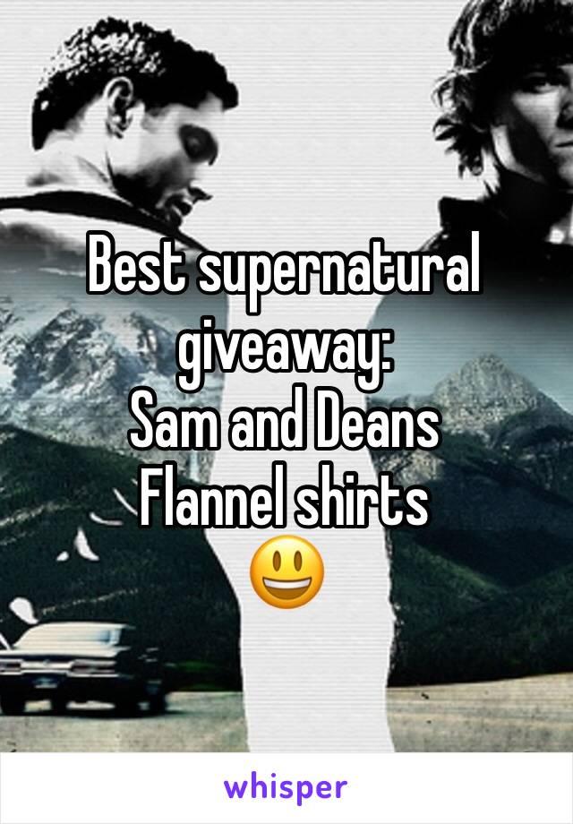 Best supernatural giveaway: Sam and Deans  Flannel shirts 😃