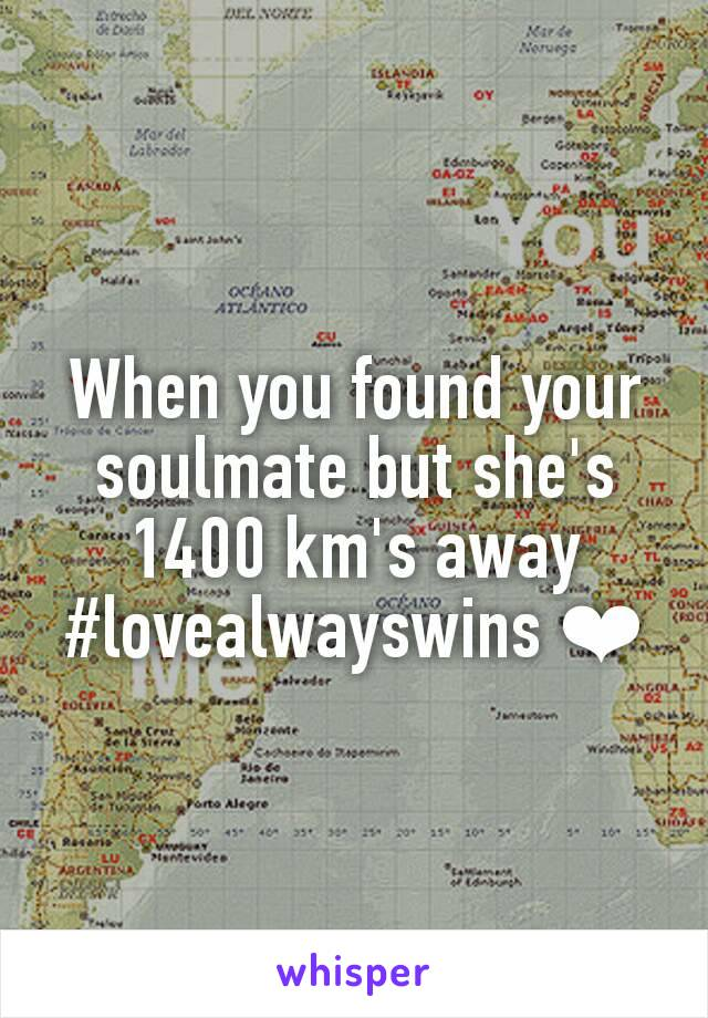 When you found your soulmate but she's 1400 km's away #lovealwayswins ❤