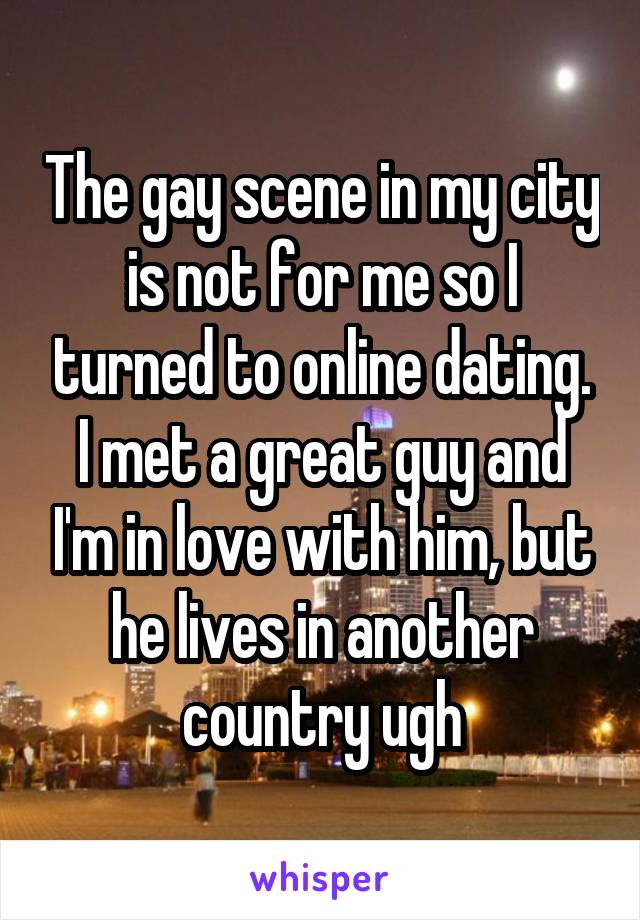 Dating someone from another country online
