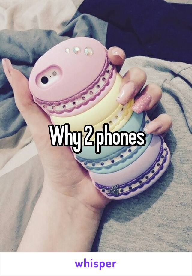 Why 2 phones