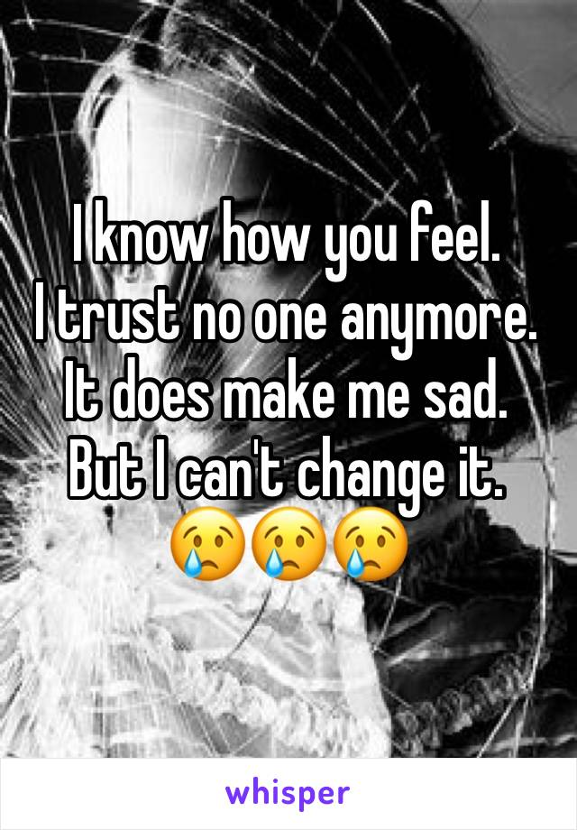 I know how you feel. I trust no one anymore. It does make me sad. But I can't change it. 😢😢😢