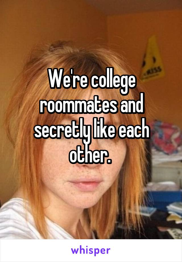 We're college roommates and secretly like each other.