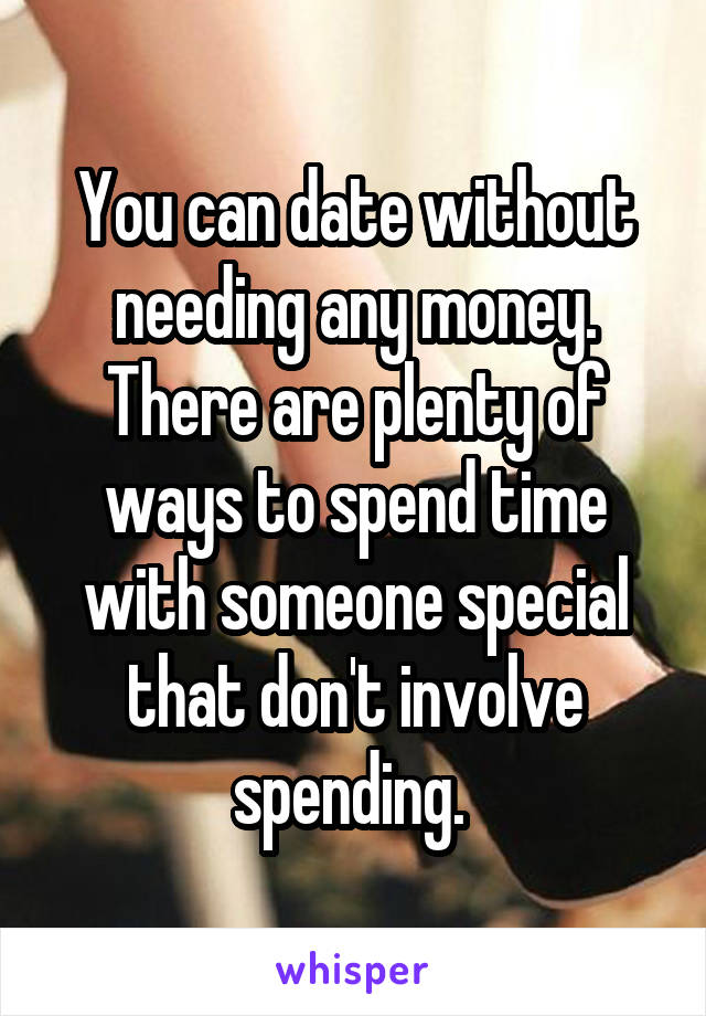 Dating without spending money