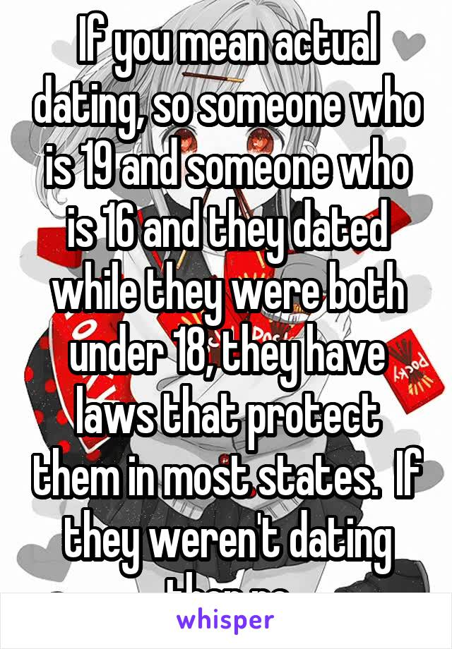 what you mean by dating