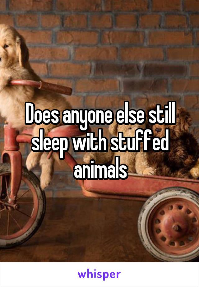Does anyone else still sleep with stuffed animals