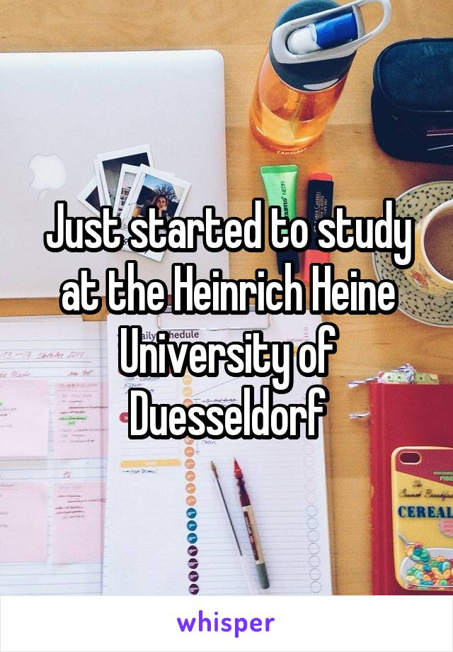 Just started to study at the Heinrich Heine University of Duesseldorf