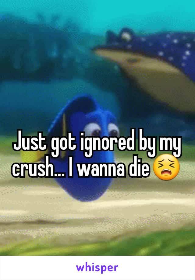 Just got ignored by my crush... I wanna die😣