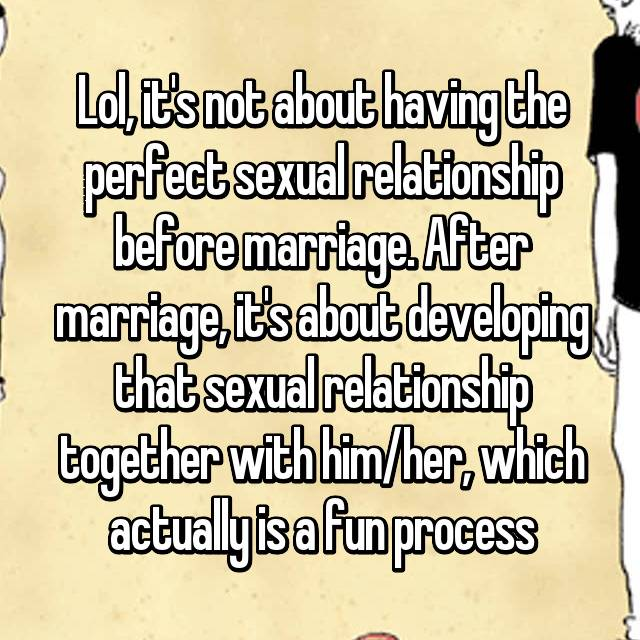 sexual relationships before marriage