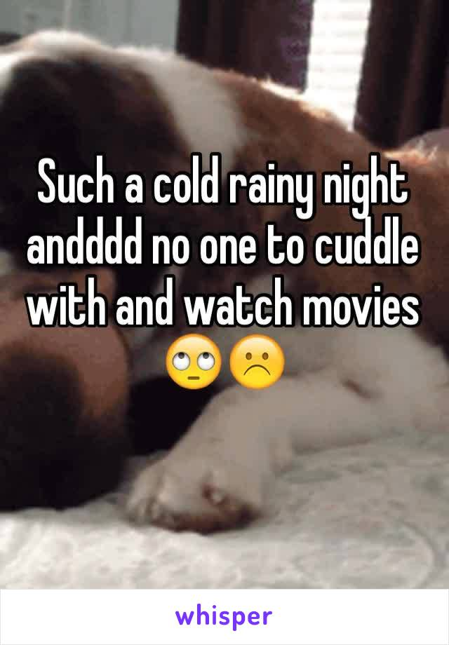 Such a cold rainy night andddd no one to cuddle with and watch movies 🙄☹