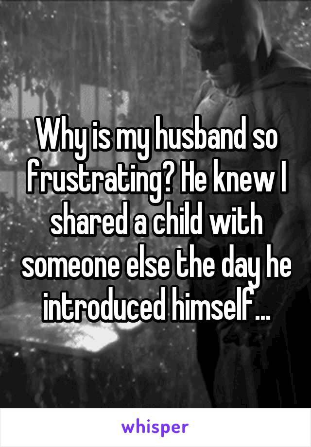 Why is my husband so frustrating? He knew I shared a child with someone else the day he introduced himself...