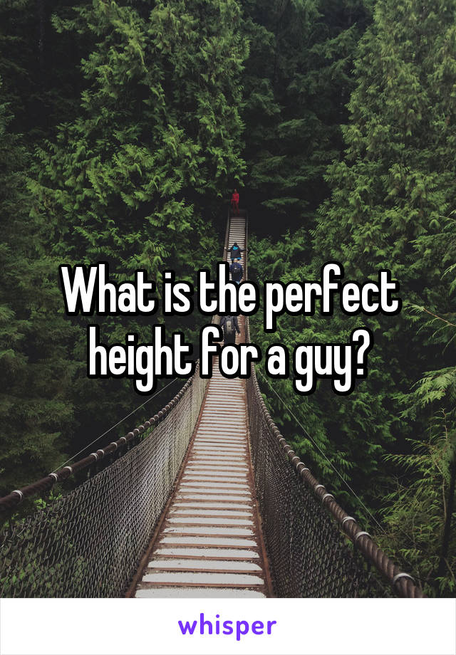 What is the perfect height for a guy?