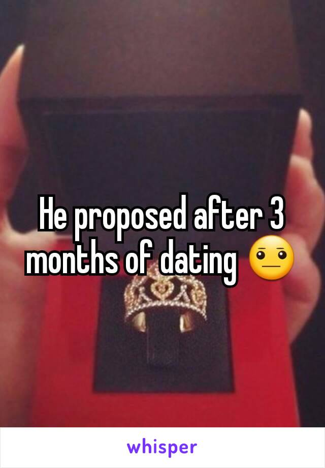 Relationship ended after 3 months