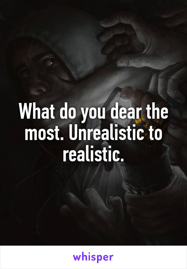 What do you dear the most. Unrealistic to realistic.