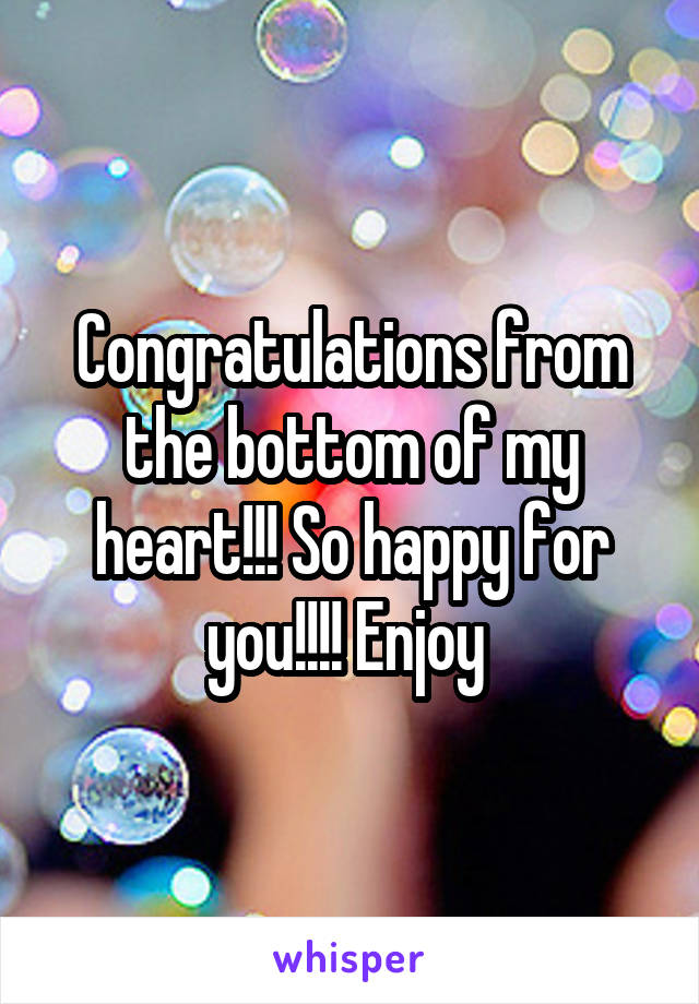 Image result for congratulations from the bottom of my heart