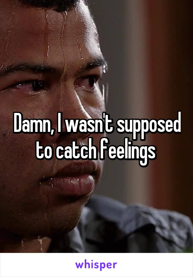 Damn, I wasn't supposed to catch feelings