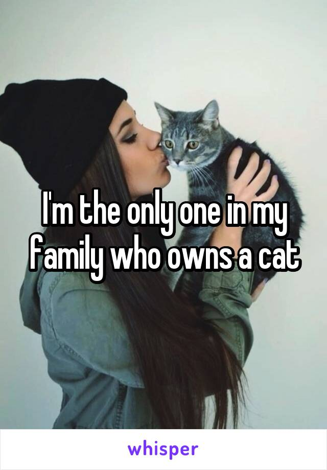 I'm the only one in my family who owns a cat