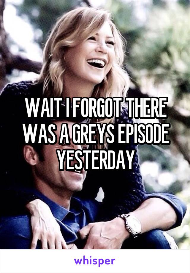 WAIT I FORGOT THERE WAS A GREYS EPISODE YESTERDAY