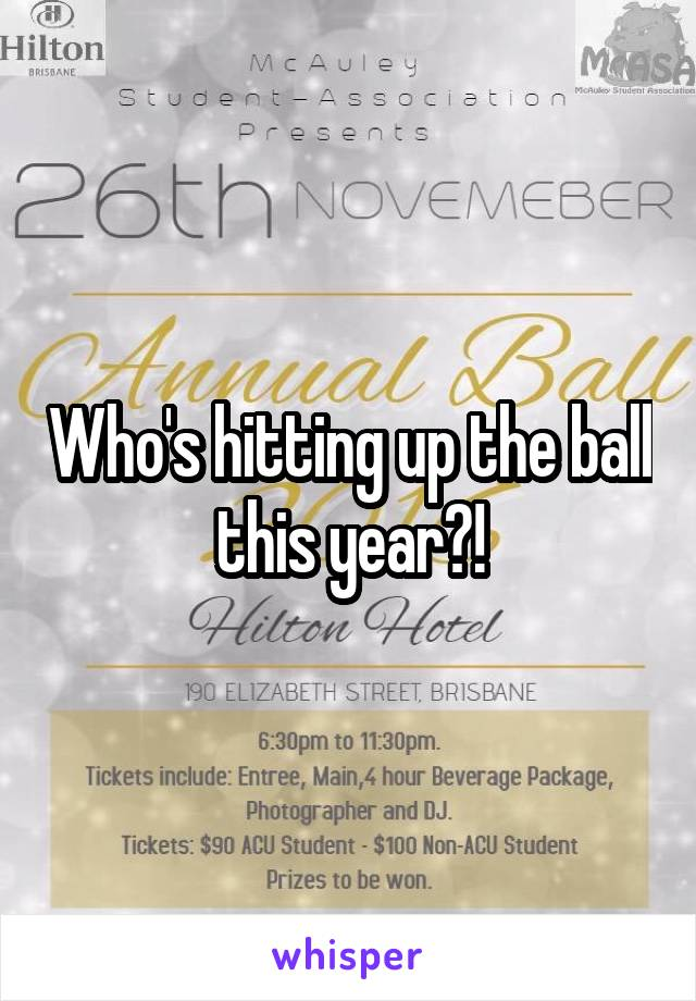 Who's hitting up the ball this year?!