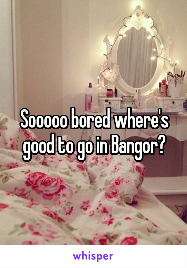 Sooooo bored where's good to go in Bangor?