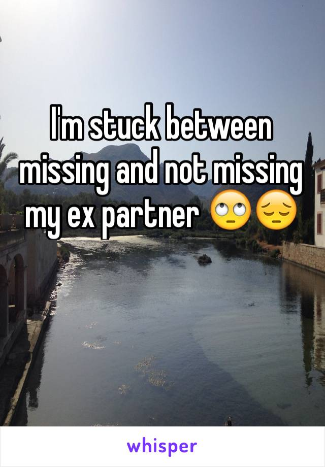I'm stuck between missing and not missing my ex partner 🙄😔