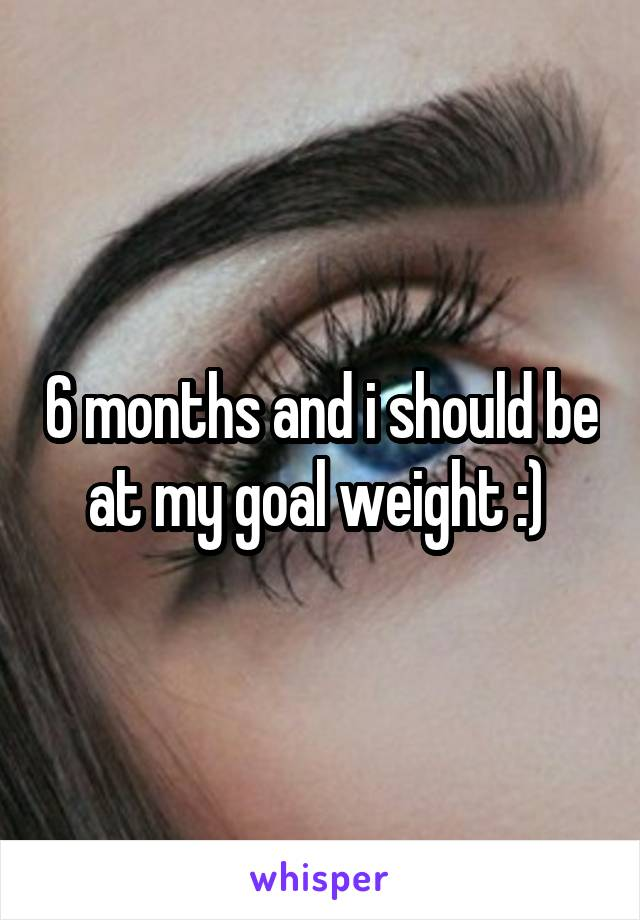 6 months and i should be at my goal weight :)