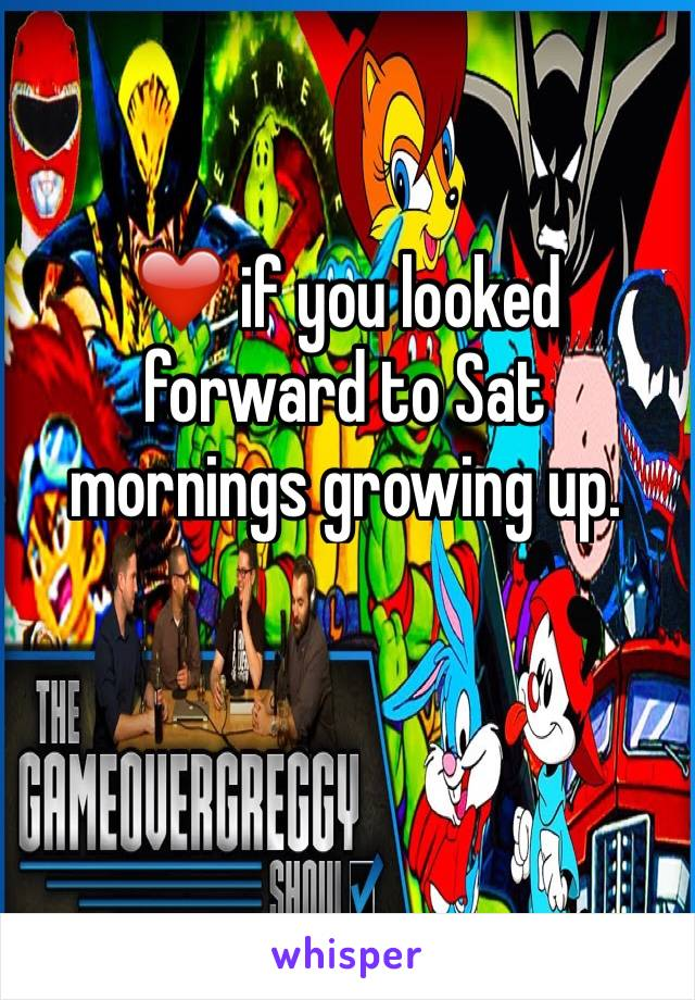 ❤️ if you looked forward to Sat mornings growing up.